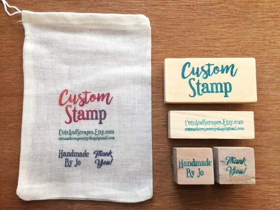custom etsy shop stamp set personalized business stamp set etsy