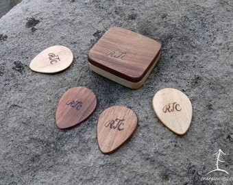 personalized guitar pick holder etsy
