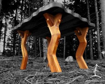 WALNUT Coffee table LEGS/Wood table legs/Table base/Handmade/Coffee table modern/Rustic/Table legs/Wooden Table legs/Walnut Table/Furniture