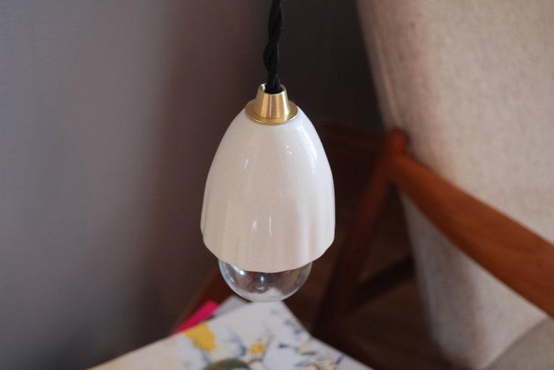 Ceramic Pendant Lamp WAVE  Ceramic Shade Lighting Light Art & image 0