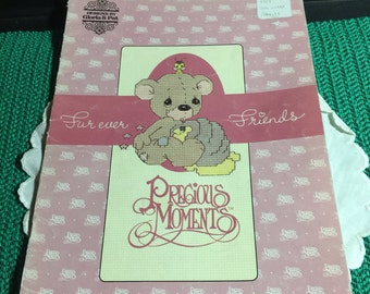 Vintage Precious Moments Counted Cross Stitch Instruction Book - Furever Friends