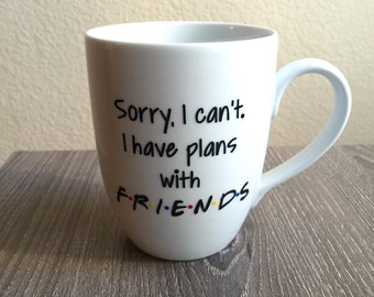 F.R.I.E.N.D.S Mug, Friends Mug, Quote Mug, Funny mug, Introvert, Gift, Present, Friends Quote, Friend Quote