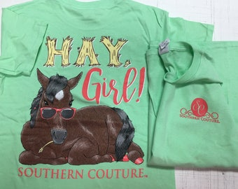 Southern Couture Hey Yall tee shirt new