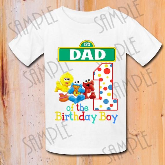 Sesame Street Birthday Shirt Family Elmo Boys