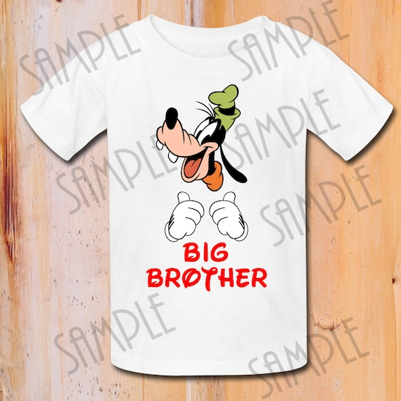 picture relating to Printable Shirts identified as T-blouse Disney goofy Iron Upon Move Printable Large BROTHER electronic down load Tailored Birthday celebration blouse Matching Relatives Shirts