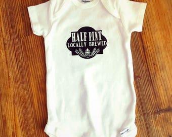 4a6220d25 Half pint onesie - home brewed onesie - funny baby onesie - funny baby  clothes - baby gift - funny baby gift - baby onesie - baby clothes