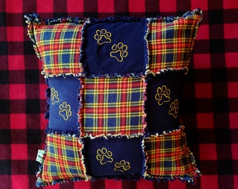 Antler Pillow Cover 16x26 Buffalo plaid