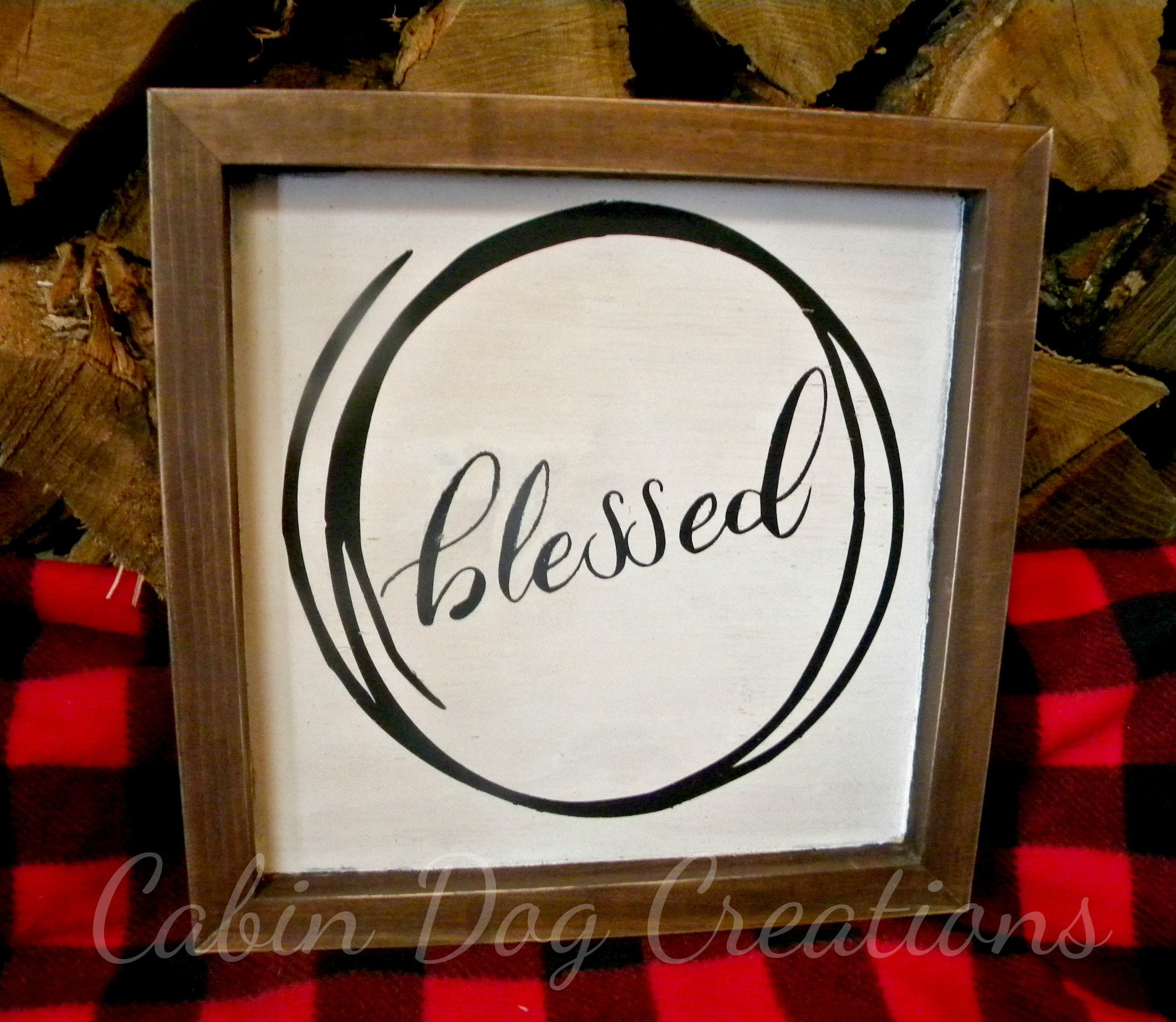 50 Farmhouse Style Gift Ideas From Etsy: Blessed Wood Farmhouse Style Sign Gift For Mom Mother's