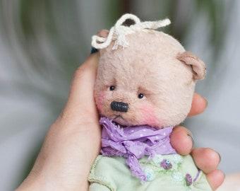 teddy bear Verka, For Her, collectible toy, teddy bear, exclusive, Handmade,   artist teddy bear, olegshatan,stuffed teddy bear