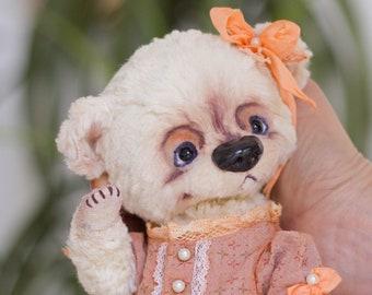 teddy bear Anyuta, Gift for her, collectible toy, teddy bear, exclusive, Handmade,   artist teddy bear, olegshatan,stuffed teddy bear