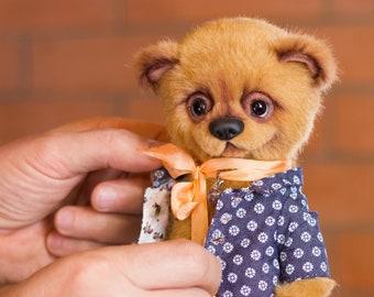 teddy bear Persik, Gift for her, collectible toy, teddy bear, exclusive, Handmade,   artist teddy bear, olegshatan,stuffed teddy bear