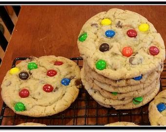 Jumbo M&M Chocolate Chip Cookies  - 1 Dozen
