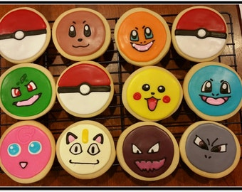 Pokemon Cut Out Sugar Cookies 1 Dozen
