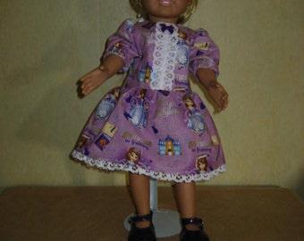 01c8b2d4a9 18 Inch American Doll Princess Dress Purple White Lace Trim Bow Dark Purple  Patent Shoes White Hair Bow.(80).