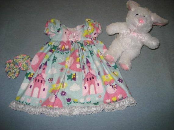 f11ea5fcc5 18 Inch American Doll Princess Nightgown Flannel Short Sleeve