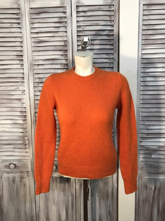 vintage women's sweater - orange sweater of the 80