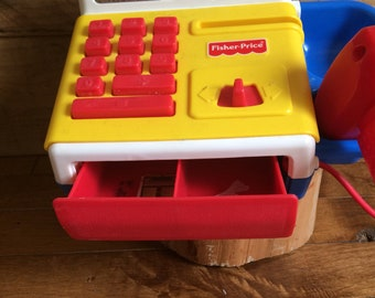 Vintage toy, Fisher price cash register, year 80