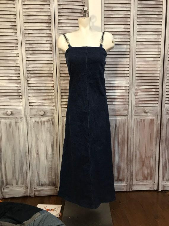 Vintage jeans long dress - jeans dress Naf Naf yea