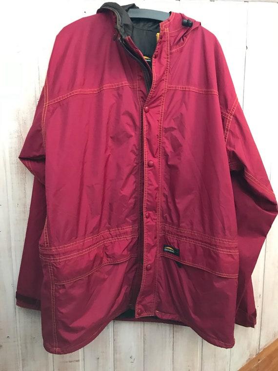 Abrigo Mujer Pfuqi Impermeable Hombre Frambuesa Rojo v0Omn8Nyw