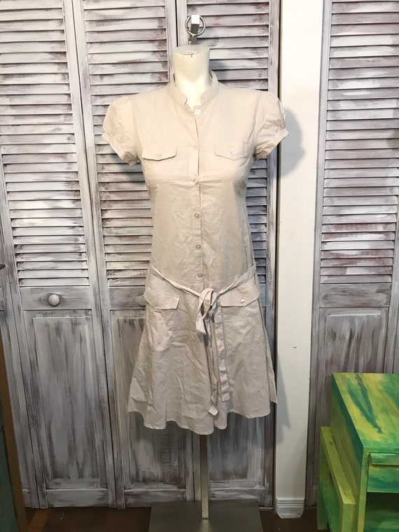 small vintage dress in light cotton - short sleeve
