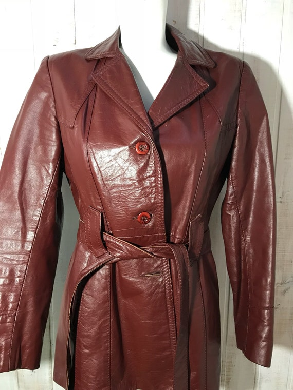 Jacket - jacket - leather - brown - made in Canada