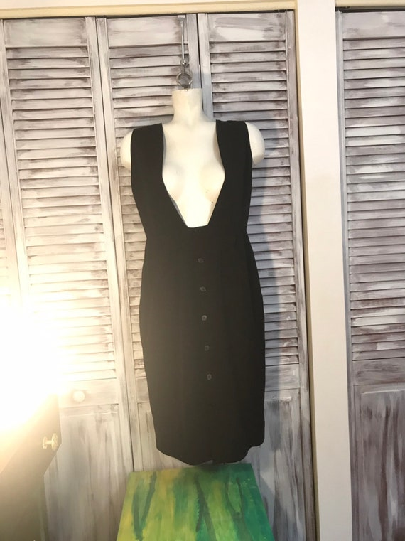 Vintage dress Rodier France - overalls long black
