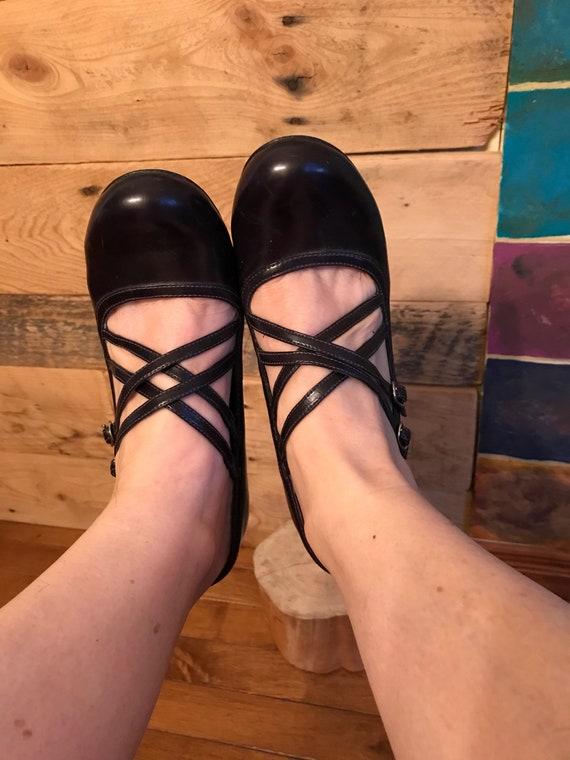 Pumps-shoe-woven-dark mauve-Aldo-round toe-heels-… - image 6