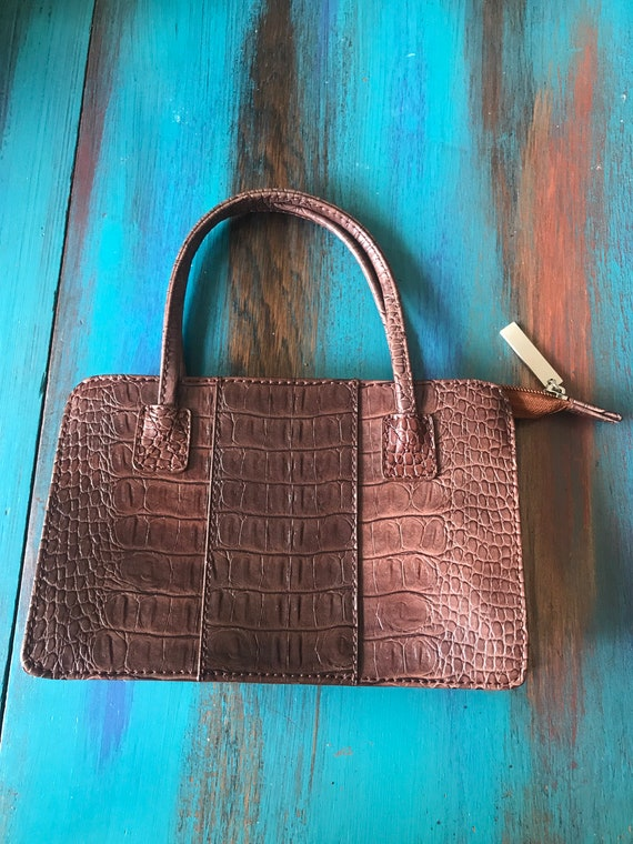 like new all leather Mimi handbag vintage 70s retro purse
