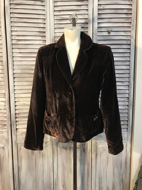 Veste femme velours - boho - veste vintage en velo