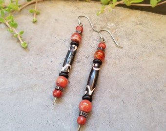 Batik Bone Earrings