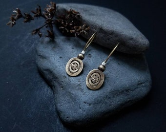 Stamped Brass Earrings