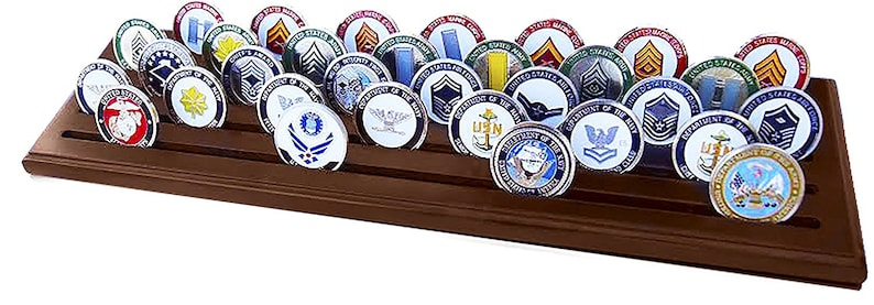 5 Row Challenge Coin Holder Holds 30-36 Coins 5 Rows MADE IN THE USA