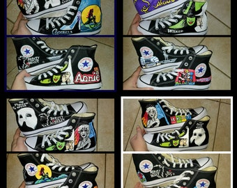 97b5c079b15b7b Customize Your Own Broadway High Tops- Up to 8 Shows of Choosing