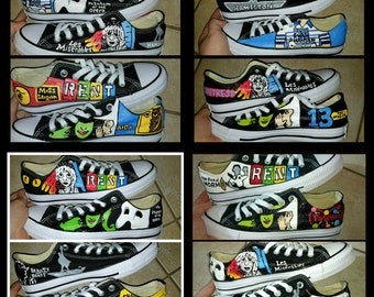 bbeb42405587a7 Customize Your Own Broadway Low Tops- Up to 8 Shows of Your Choosing