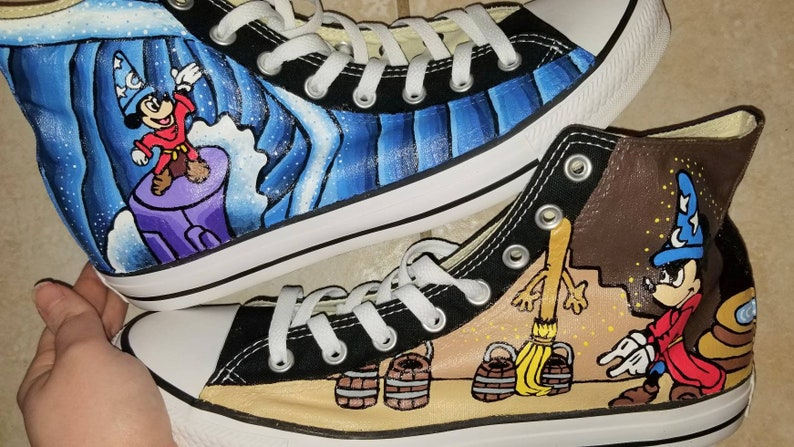 d404e388c779 Sorcerer Mickey Hand Painted High Tops