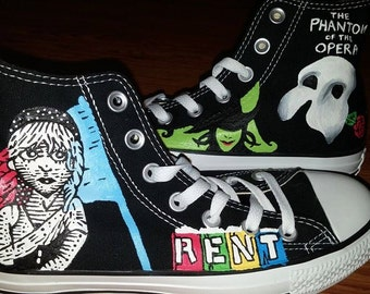 Broadway Custom Painted High Tops