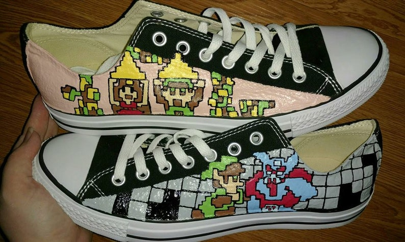 601e1c1f5e14 NES Legend of Zelda Custom Low Tops