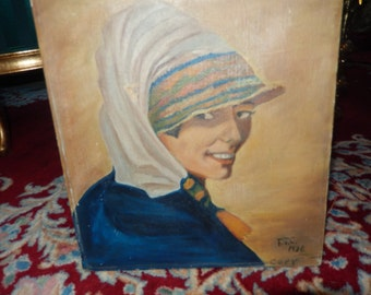 ORIGINAL PAINTING of a WOMAN