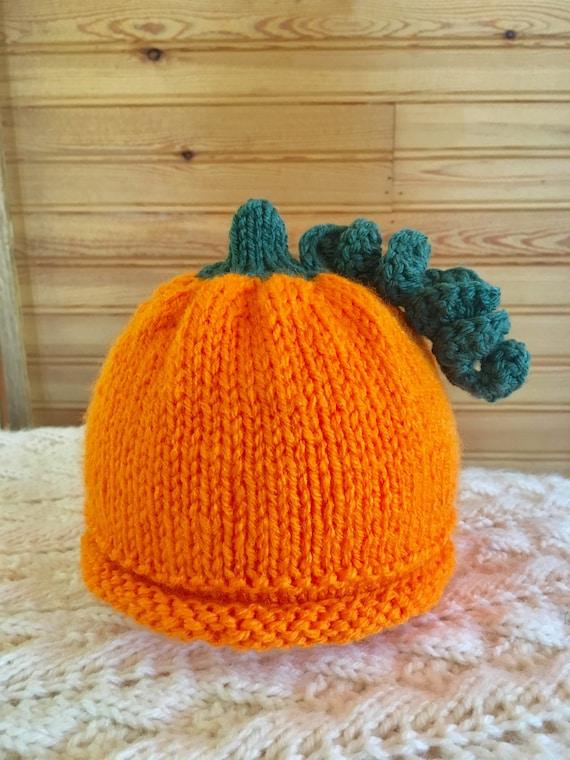 Tricot bébé citrouille enfant chapeau bonnet citrouille pour   Etsy d1d3046037e