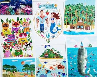 Various A6 size prints