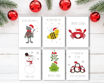 Christmas card pack | Etsy