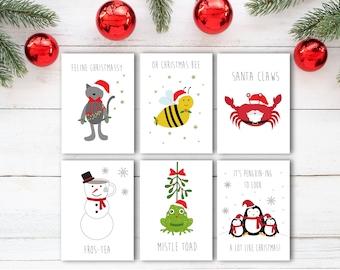 christmas card set etsy