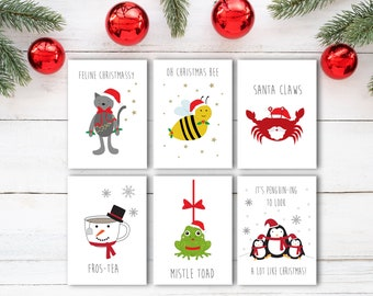 Funny christmas cards etsy christmas card pack funny christmas card set x6 funny pun cards xmas cards funny holiday cards funny christmas cards christmas cards pun m4hsunfo