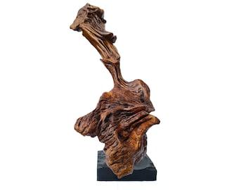 "Wood sculpture ""Bassgeige"" (unique specimen)"