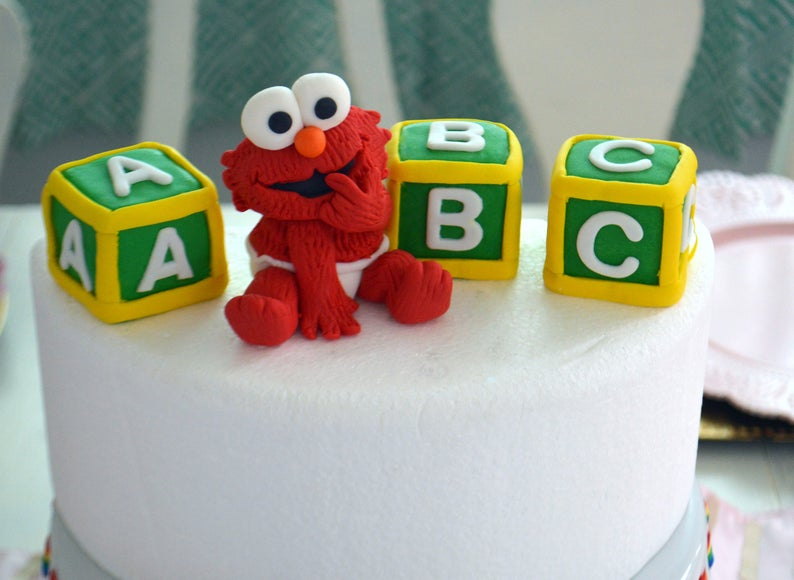 Baby Elmo Cake Topper 100 Edible