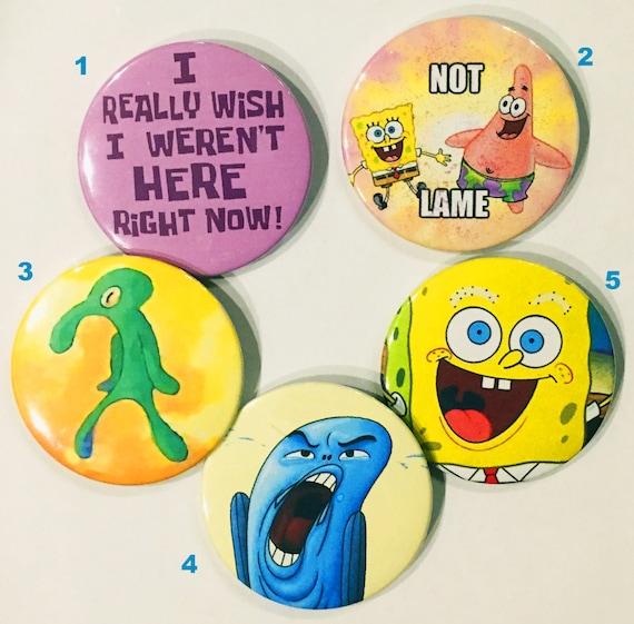 Spongebob Squarepants Pins Etsy