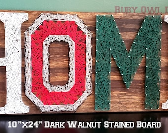 Burlap painted OUOSU house divided door hanger
