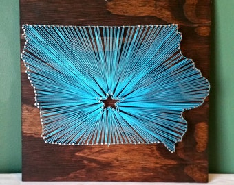 State of Iowa String Art Sign, Made to Order