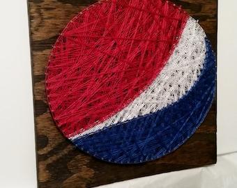 Pepsi String Art Sign, Made to Order