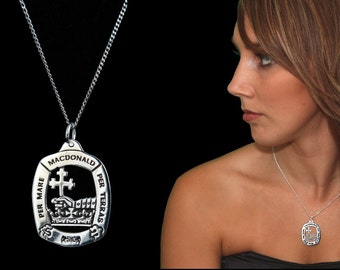 free shipping Bruce Clan Pendant Sterling Silver and Gold